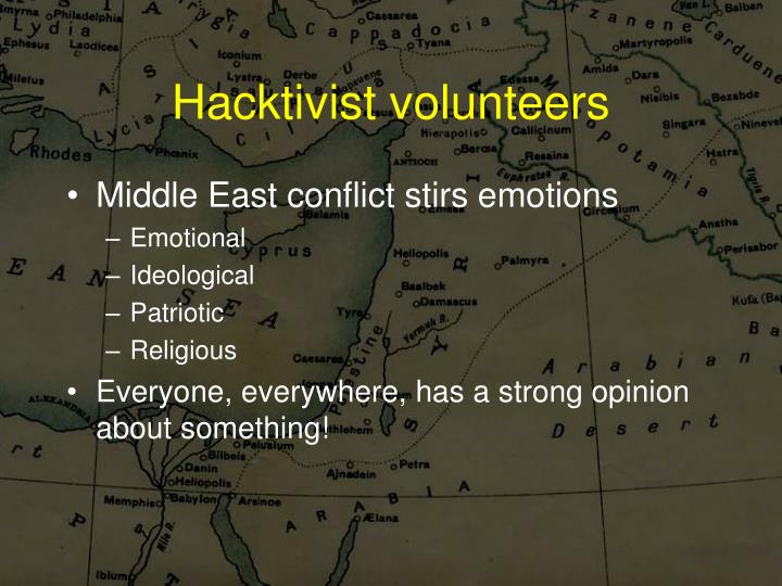 Hacktivist volunteers