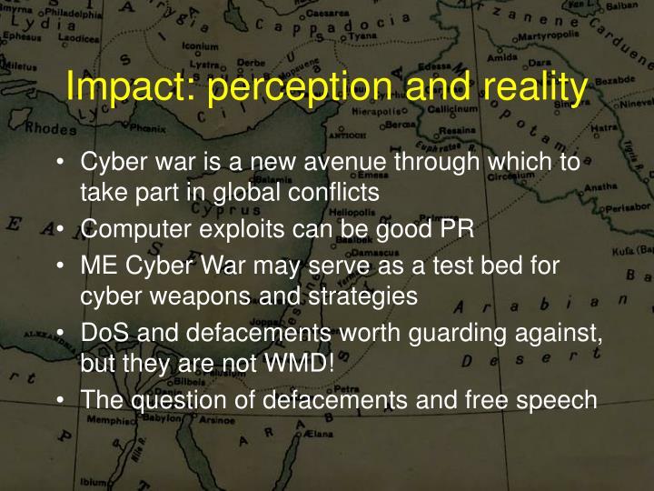 Impact: perception and reality