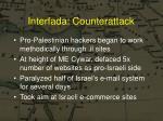 interfada counterattack