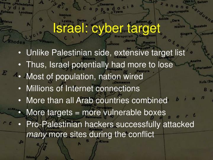 Israel: cyber target