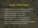 israel cyber target