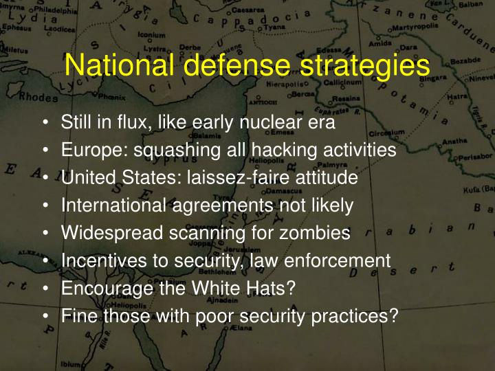 National defense strategies