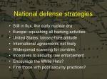 national defense strategies