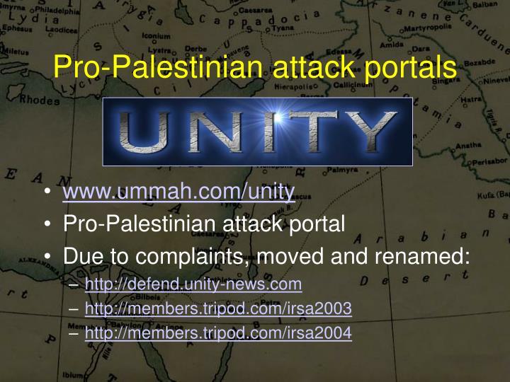 Pro-Palestinian attack portals