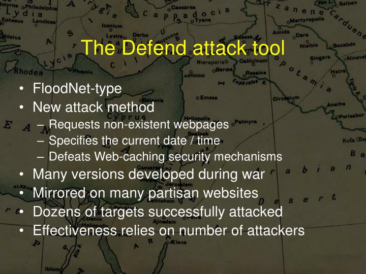 The Defend attack tool