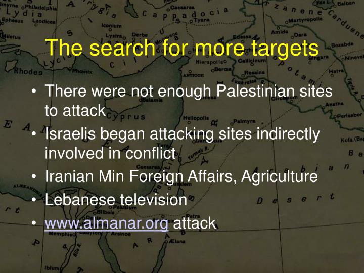 The search for more targets