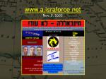 www a israforce net nov 9 2000