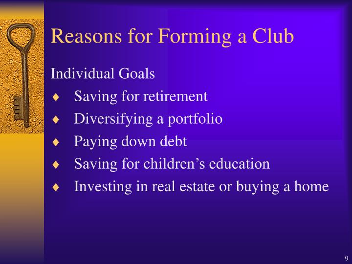 Reasons for Forming a Club