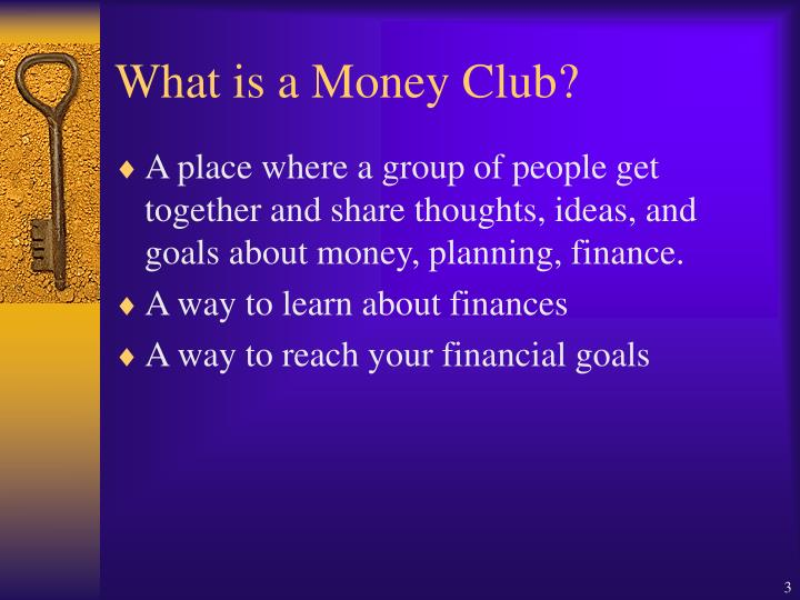 What is a money club