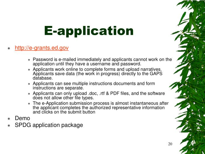 E-application