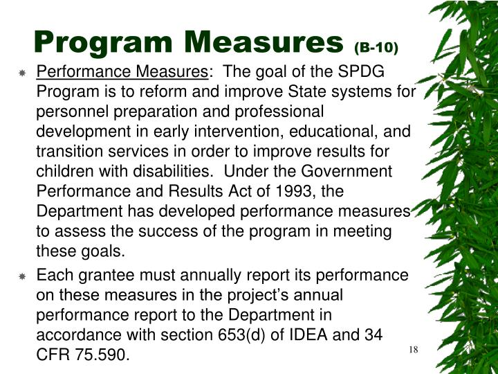 Program Measures
