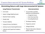 common interconnected ac system problems