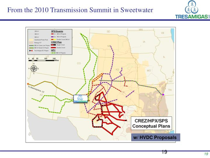 From the 2010 Transmission Summit in Sweetwater