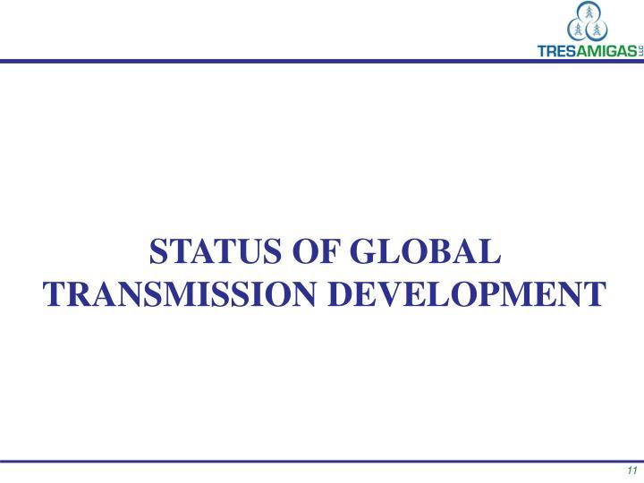 Status of Global transmission development