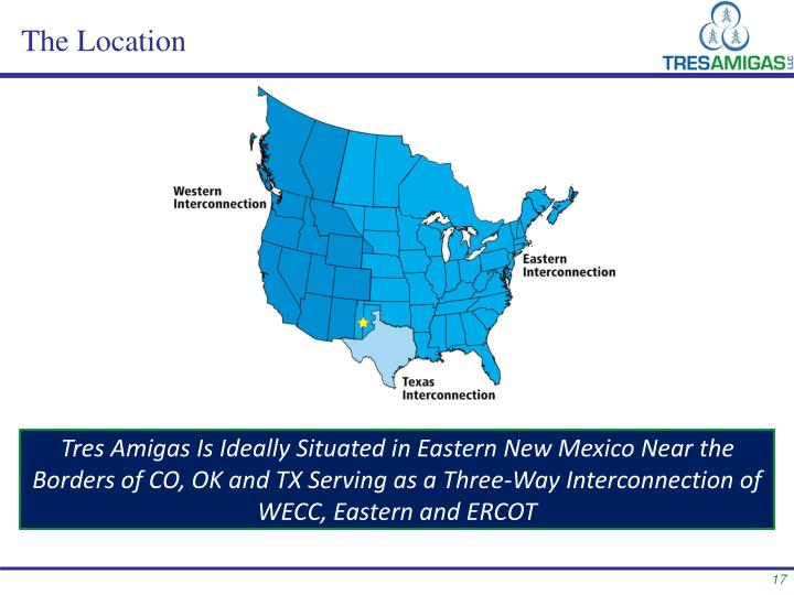 Tres Amigas Is Ideally Situated in Eastern New Mexico Near the Borders of CO, OK and TX Serving as a Three-Way Interconnection of WECC, Eastern and ERCOT