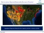 the location regional renewable resource potential