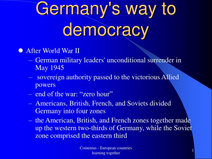 Germany s way to democracy