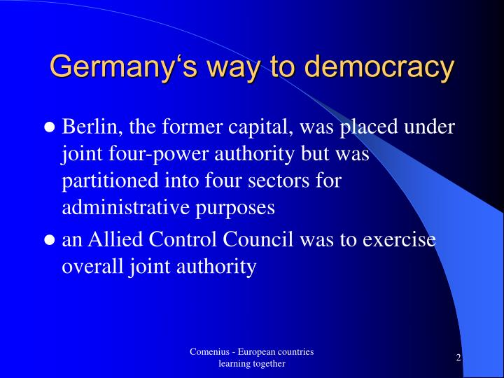 Germany's way to democracy