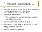 marketing plan structure 1 of 5