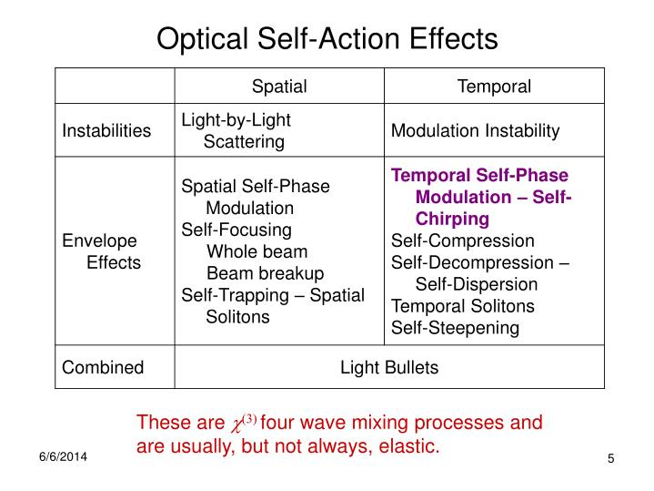 Optical Self-Action Effects