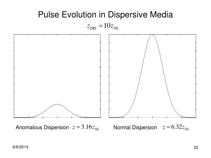 Pulse Evolution in Dispersive Media