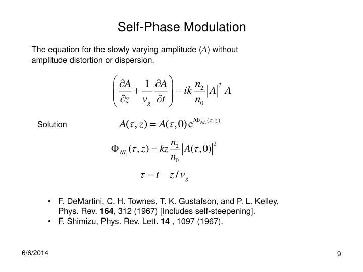 Self-Phase Modulation