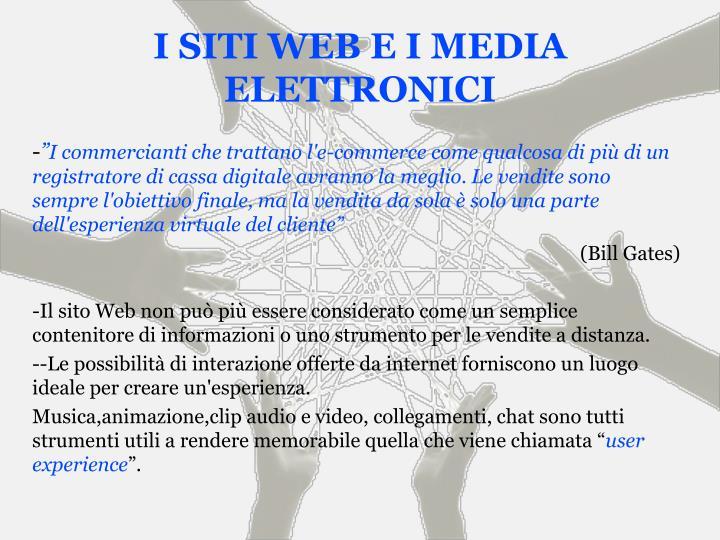 I SITI WEB E I MEDIA ELETTRONICI