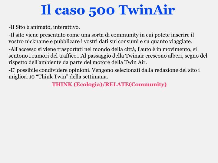 Il caso 500 TwinAir