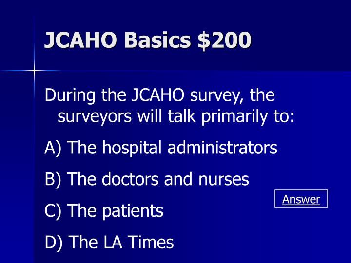 JCAHO Basics $200