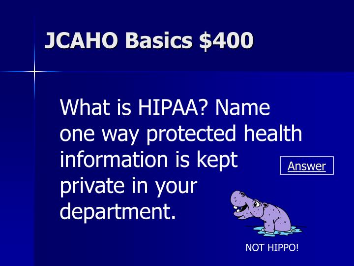 JCAHO Basics $400