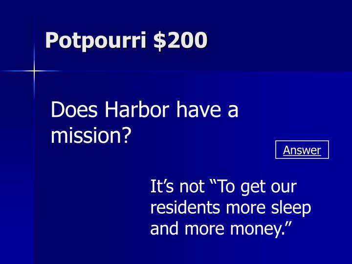 Potpourri $200