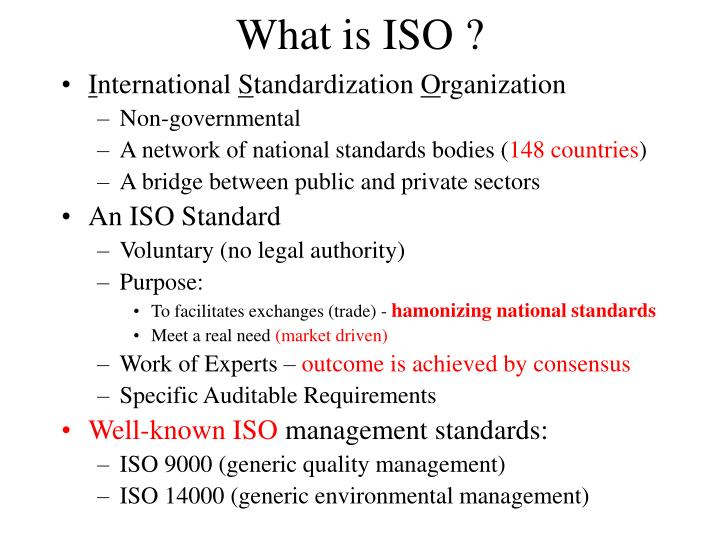 What is ISO ?
