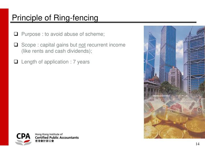 Principle of Ring-fencing