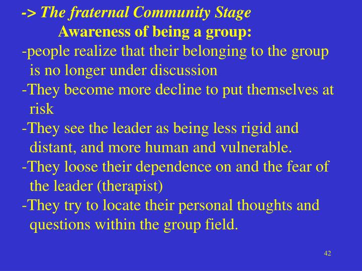 -> The fraternal Community Stage