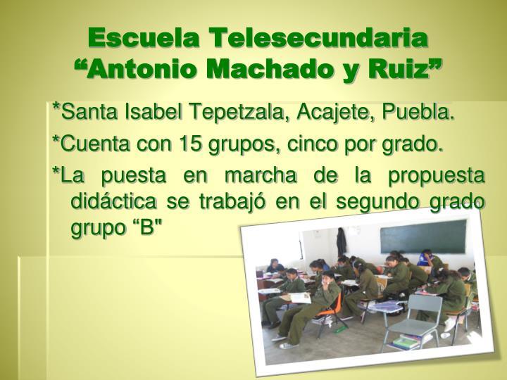 Escuela Telesecundaria