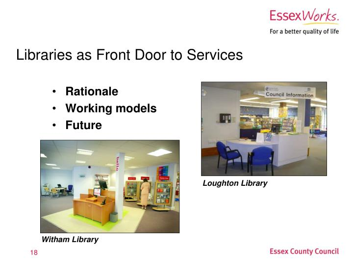 Libraries as Front Door to Services