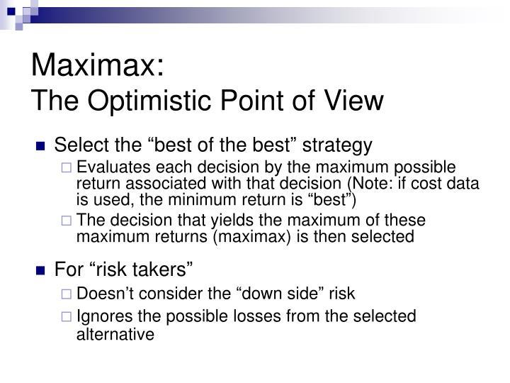 Maximax: