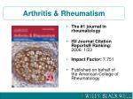 arthritis rheumatism