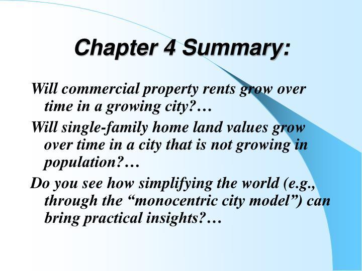Chapter 4 Summary: