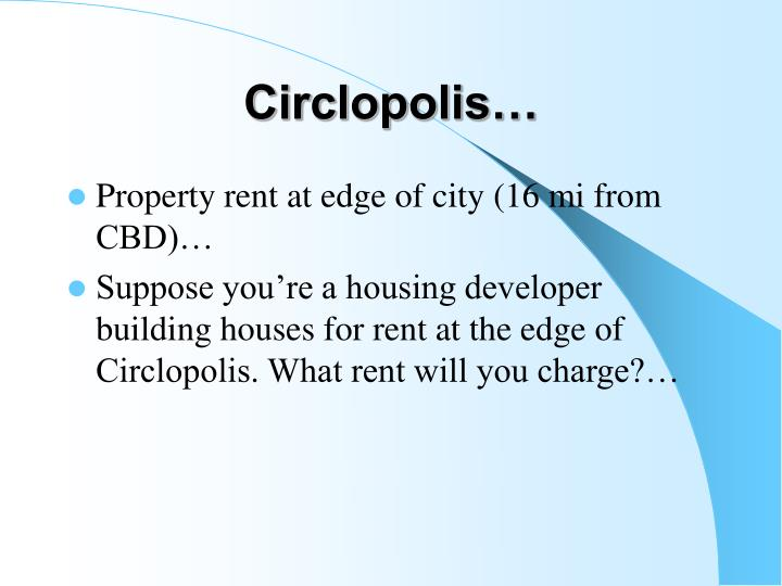 Circlopolis…