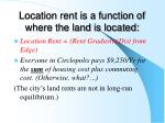 location rent is a function of where the land is located