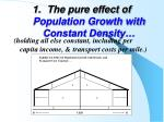 the pure effect of population growth with constant density