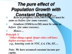 the pure effect of population growth with constant density1