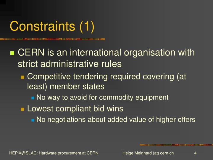 Constraints (1)