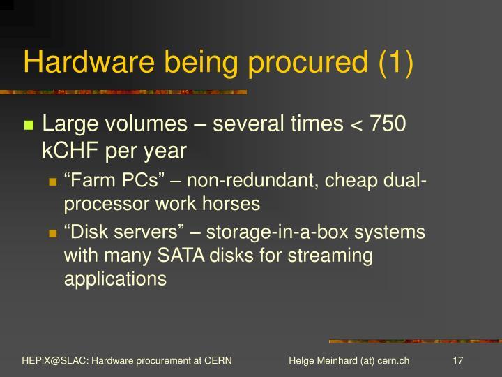 Hardware being procured (1)