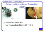 smart dust active laser transmitter salt1