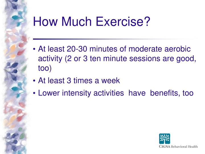 How Much Exercise?