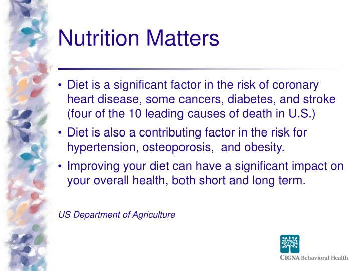 Nutrition Matters