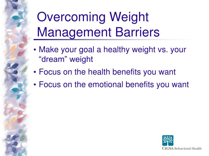 Overcoming Weight Management Barriers