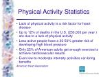 physical activity statistics